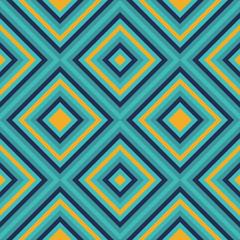 Seamless geometric square pattern in retro style vector
