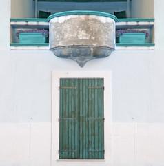 aqua balcony and door