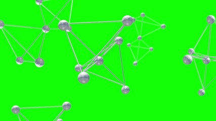 technology network loop  green screen