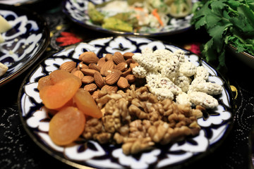 Nuts and dried apricots