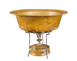 kerosene stove and copper basin