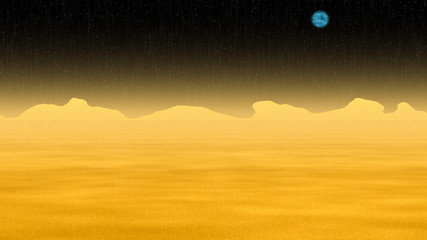 Armageddon sun landscape generated seamless loop video