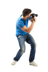 Bend photographer taking photos with dslr