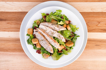 Fresh chicken caesar salad