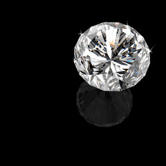 diamond on black surface background