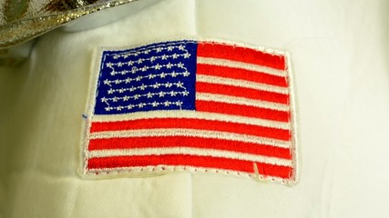 embroidered American flag - clothes