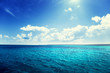 canvas print picture - caribbean sea and perfect sky