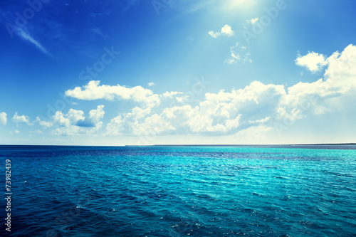 canvas print picture caribbean sea and perfect sky