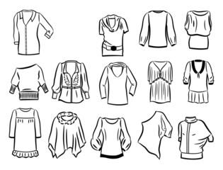 Contours of tunics