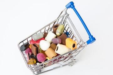Einkaufswagen mit Sweeties