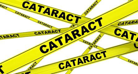 Катаракта (cataract). Желтая оградительная лента