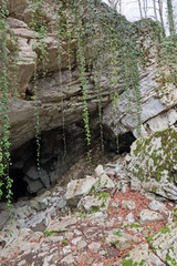 The entrance to Vorontsovskaya cave, Sochi
