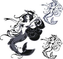 Three water nymph