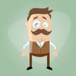 schnurrbart cartoon mann lustig hipster