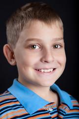 Portrait of a beautiful, caucasian boy