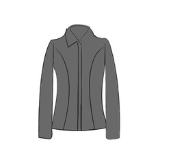 grey business suit with