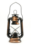 Classical paraffin lamp poster