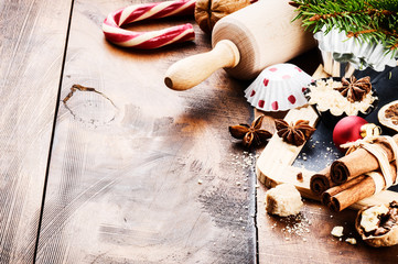 Christmas holiday baking