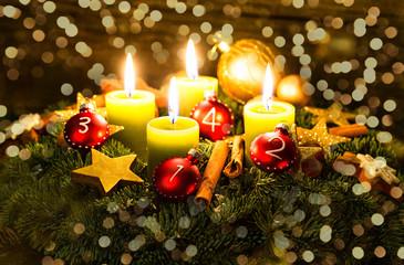 Weihnachten Adventgesteck