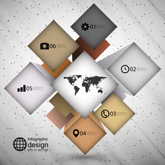 infographic cube box for business concepts, modern template