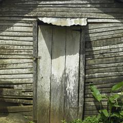 Old shack door