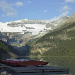 Calm lake and high mountains