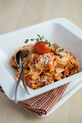 Traditional Italian pasta bolognese