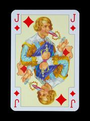 Spielkarten in Luxus und Nostalgie - Karo Bube