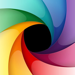 Swirly rainbow colorful shiny paper background