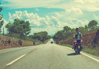 Road traffic in summer.