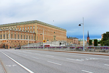 View of Stockholm Royal Palace in Gamla Stan, Sweden