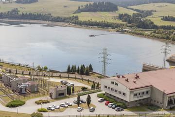 Hydropower station on Czorsztynski lake - Czorsztyn, Poland.