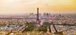 Leinwandbild Motiv Aerial view of Paris