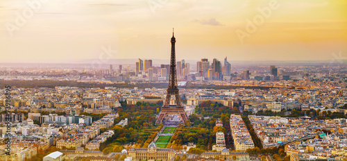 Foto op Canvas Europese Plekken Aerial view of Paris