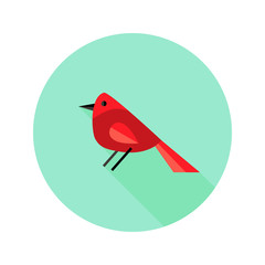 Christmas Bird Bullfinch Flat Icon