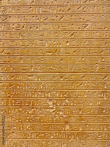 Poster Egypte Hieroglyphs on the wall