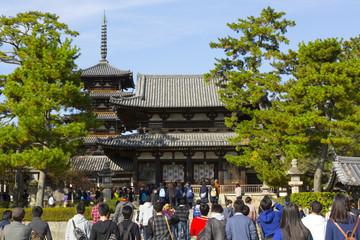 法隆寺への修学旅行