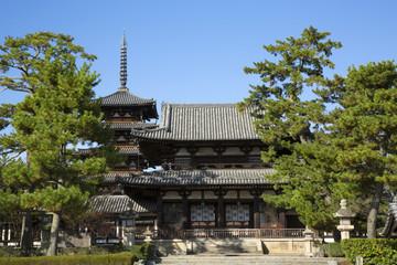 世界遺産の奈良法隆寺