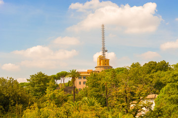 View at the Vatican radio