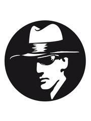 Gangster böse sonnenbrille