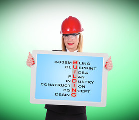building crossword