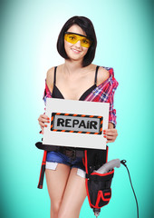 poster with repair