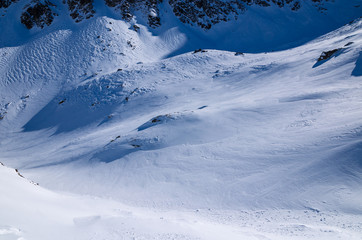 Winter trail in Starolesna valley, Tatra Mountains, Slovakia