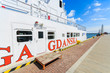 Tourist ship in Gdynia port in summer, Baltic Sea, Poland