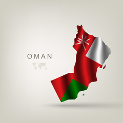 Flag of Oman as a country