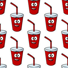 Seamless pattern of a takeaway beverage