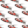 Car racing seamless pattern