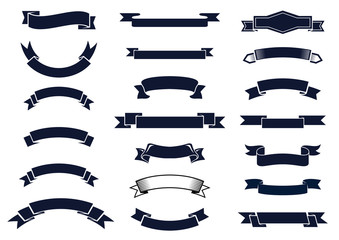 Classic vintage ribbon banners