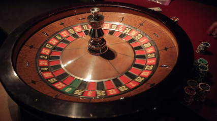 Gambling casino roulette. Sequence