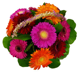 Basket of gerbera flowers